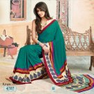 Crepe Jacquard Partywear Casual Printed Saris Saree With Blouse - VF 4707B N