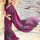 Crepe Partywear Casual Printed Saris Saree With Blouse - VF 4703A N