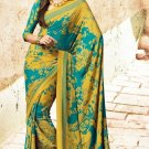 Crepe Partywear Casual Printed Saris Saree With Blouse - VF 4709B N