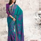 Crepe Partywear Casual Printed Saris Saree With Blouse - VF 4719A N