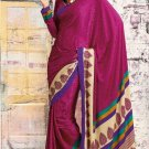 Crepe Jacquard Partywear Casual Printed Saris Saree With Blouse - VF 4707A N