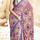 Crepe Partywear Casual Printed Saris Saree With Blouse - VF 4712B N