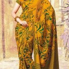 Crepe Partywear Casual Printed Saris Saree With Blouse - VF 4703B N