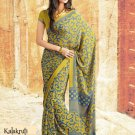 Crepe Partywear Casual Printed Saris Saree With Blouse - VF 4702A N