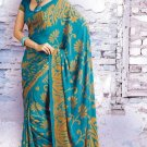 Crepe Partywear Casual Printed Saris Saree With Blouse - VF 4706A N