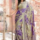 Crepe Partywear Casual Printed Saris Saree With Blouse - VF 4709A N