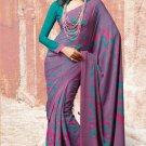 Crepe Partywear Casual Printed Saris Saree With Blouse - VF 4718B N