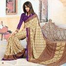 Crepe Partywear Casual Printed Saris Saree With Blouse - VF 4713B N