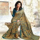 Crepe Partywear Casual Printed Saris Saree With Blouse - VF 4704A N