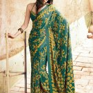 Crepe Partywear Casual Printed Saris Saree With Blouse - VF 4711B N