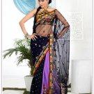 Wedding Net Designer Embroidery Sari Saree With Blouse - TS 27007 N