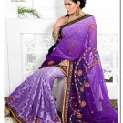 Wedding Faux Georgette Designer Embroidery Sari Saree With Blouse - TS 27004 N