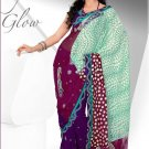 Wedding Net Brasso Designer Embroidery Sarees Sari With Blouse - TS 26009 N