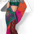 Wedding Net Georgette Designer Embroidery Sarees Sari With Blouse - TS 26017B N