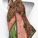 Wedding Net Georgette Designer Embroidery Sarees Sari With Blouse - TS 26013 N