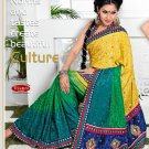 Wedding Fancy Jacquard Designer Embroidery Sari Saree With Blouse - TS 27009 N