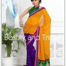 Wedding Faux Georgette Designer Embroidery Sari Saree With Blouse - TS 27011 N