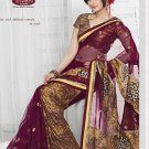 Net Brasso Wedding Embroidered Sarees Sari With Blouse - TS 21002B