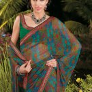 Sari Saree Casual Faux Georgette Printed With Unstitch Blouse - X 9006A N