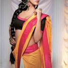 Sari Saree Casual Silk Printed With Unstitch Blouse - X 9019A N