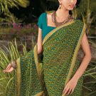 Sari Saree Casual Faux Georgette Printed With Unstitch Blouse - X 9013A N