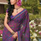 Sari Saree Casual Faux Georgette Printed With Unstitch Blouse - X 9015B N