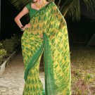 Sari Saree Casual Faux Georgette Printed With Unstitch Blouse - X 9009A N
