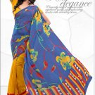 Indian Bollywood Faux Georgette Printed Sari With Unstitch Blouse - X 2181A N
