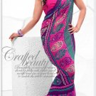 Indian Bollywood Faux Georgette Printed Sari With Unstitch Blouse - X 2191B N