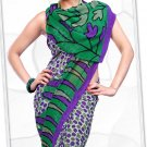 Indian Bollywood Faux Georgette Printed Sari With Unstitch Blouse - X 2197B N