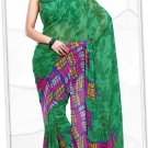 Indian Bollywood Faux Georgette Printed Sari With Unstitch Blouse - X 2187B N