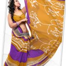 Indian Bollywood Faux Georgette Printed Sari With Unstitch Blouse - X 2173A N