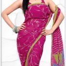 Indian Bollywood Faux Georgette Printed Sari With Unstitch Blouse - X 2172A N