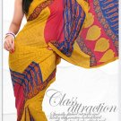 Indian Bollywood Faux Georgette Printed Sari With Unstitch Blouse - X 2190B N
