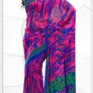 Indian Bollywood Faux Georgette Printed Sari With Unstitch Blouse - X 2199B N