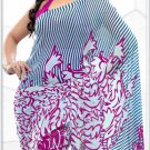 Indian Bollywood Faux Georgette Printed Sari With Unstitch Blouse - X 2177B N