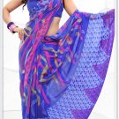 Indian Bollywood Faux Georgette Printed Sari With Unstitch Blouse - X 2198A N