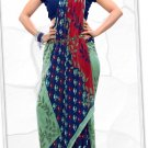 Indian Bollywood Faux Georgette Printed Sari With Unstitch Blouse - X 2195A N