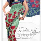 Indian Bollywood Faux Georgette Printed Sari With Unstitch Blouse - X 2176A N