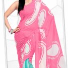 Indian Bollywood Faux Georgette Printed Sari With Unstitch Blouse - X 2186A N