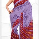 Indian Bollywood Faux Georgette Printed Sari With Unstitch Blouse - X 2195B N