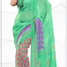 Indian Bollywood Faux Georgette Printed Sari With Unstitch Blouse - X 2194B N