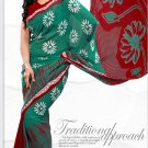 Indian Bollywood Faux Georgette Printed Sari With Unstitch Blouse - X 2200A N