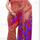 Indian Bollywood Faux Georgette Printed Sari With Unstitch Blouse - X 2197A N