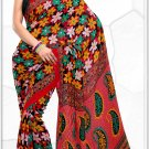 Indian Bollywood Faux Georgette Printed Sari With Unstitch Blouse - X 2193B N