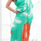 Indian Bollywood Faux Georgette Printed Sari With Unstitch Blouse - X 2186B N