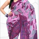 Indian Bollywood Faux Georgette Printed Sari With Unstitch Blouse - X 2185A N