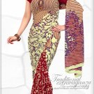 Indian Bollywood Faux Georgette Printed Sari With Unstitch Blouse - X 2177A N