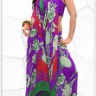 Indian Bollywood Faux Georgette Printed Sari With Unstitch Blouse - X 2192B N
