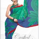 Indian Bollywood Faux Georgette Printed Sari With Unstitch Blouse - X 2169B N